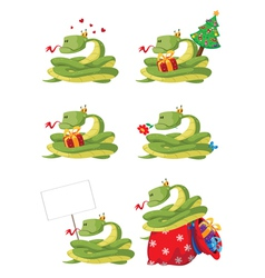 collection snake vector image
