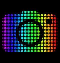 colored pixel photo camera icon vector image