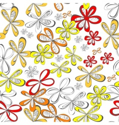 colorful seamless wallpaper with flowers vector image