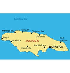 Commonwealth of Jamaica - map vector image