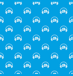 consultation by phone pattern seamless blue vector image