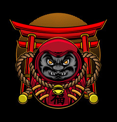 Daruma doll japanese vector