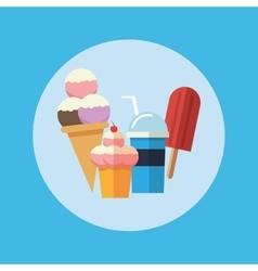 Delicius food Sweet food icon Dessert graphic vector image vector image