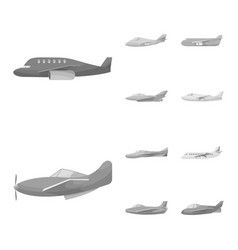 Design aviation and airline sign set of vector