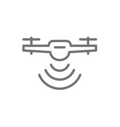 Drone with radio waves wireless radar detection vector