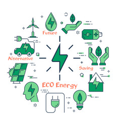 eco energy sign vector image