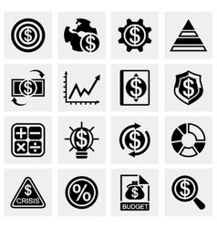 Economic icon set vector image