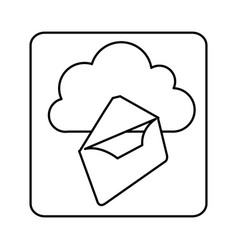figure cloud letter network icon vector image