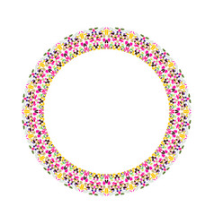 Floral circular frame - abstract element vector