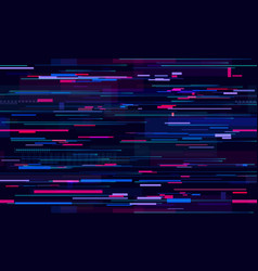 futuristic neon glitch background glitched vector image