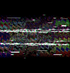Glitch television retro vhs background digital vector