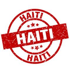 Haiti red round grunge stamp vector