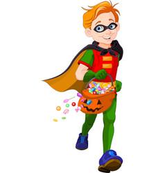 halloween super boy vector image