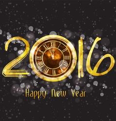 Happy new year 2016 - old clock vector