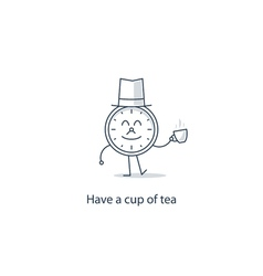 Have a cup of tea vector