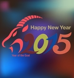 Holidays Chinese New Year 2015 of the Goat vector image