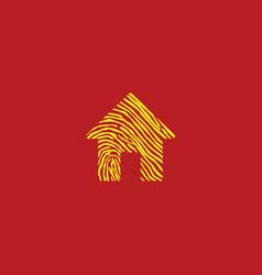 Home icon logo template design vector
