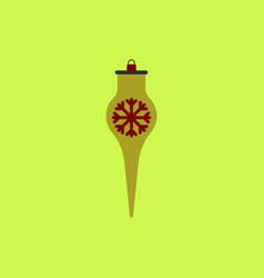 Icicle christmas toy christmas vector