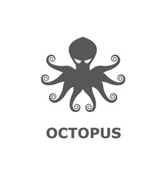 icon of octopus isolated on white background vector image