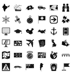 mark cartography icons set simple style vector image