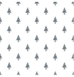 modern christmas tree pattern seamless vector image