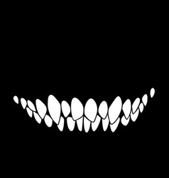 monster mouth with sharp teeth vector image