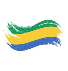 national flag of gabon designed using brush vector image