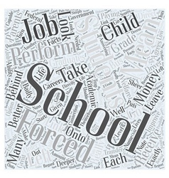No Child Left Behind Word Cloud Concept vector