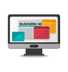 Office and business news design vector