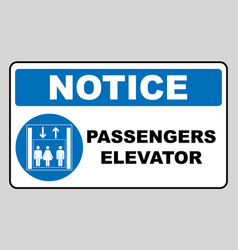 Passengers elevator sign lift icon vector