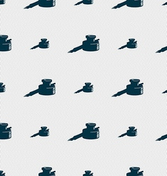Pen and ink icon sign Seamless pattern with vector