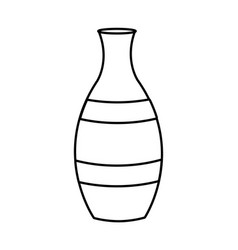 porcelain vase isolated vector image
