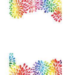 Rainbow colorful petals flower shape watercolor vector