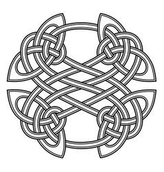 Round celtic scandinavian design celtic pattern vector