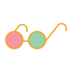 Round eyeglasses flat vector