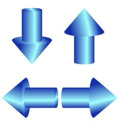 Set of 3d round arrows vector