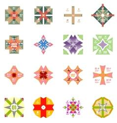 Set of geometric info templates vector image