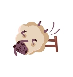 Sheep Falling From The Chair vector
