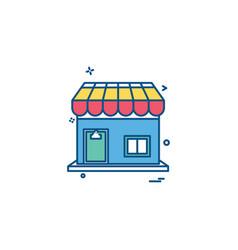 shop icon design vector image