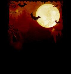 spooky dark orange halloween background vector image