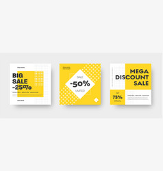 square web banner templates for big and mega sale vector image
