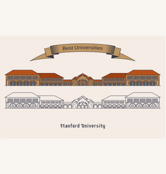 Stanford university building architecture vector