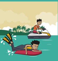 Summer water sport concept vector