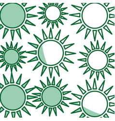 Sun pattern ecology symbol icon vector