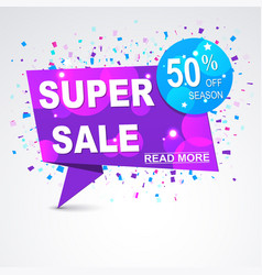 super sale origami paper banner discount with vector image vector image