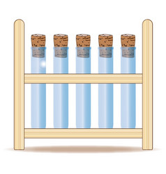 Test tube rack vector