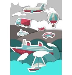 Transport paper background vector image