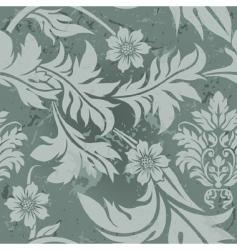 vintage floral grunge seamless wallpaper vector image