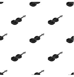 Violin icon in black style isolated on white vector