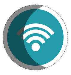 Wifi signal isolated icon vector